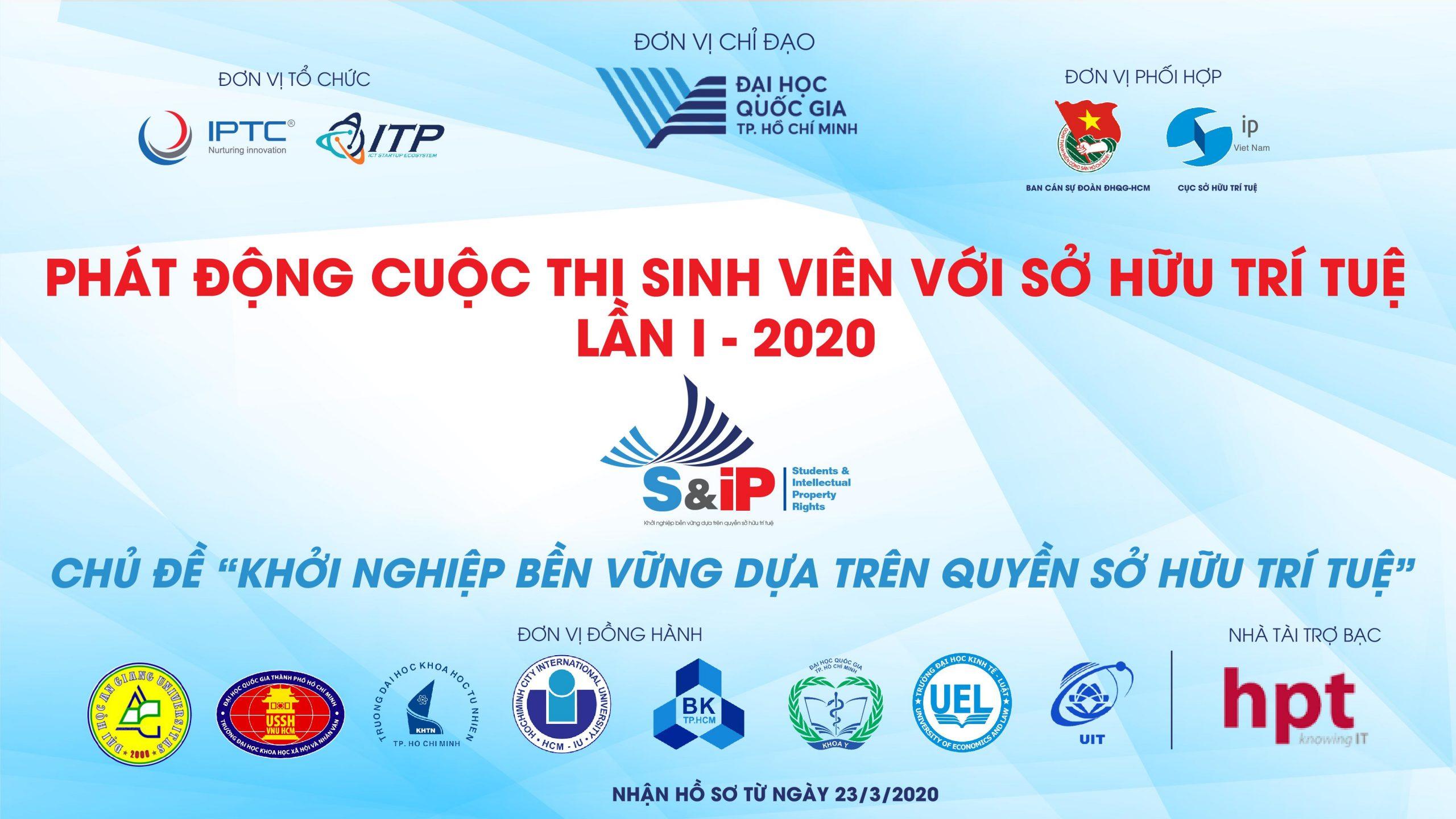 """Thông báo: Về việc gia hạn thời gian nhận dự án tham gia cuộc thi """"Sinh viên với quyền sở hữu trí tuệ"""" lần I – 2020 (SIP)"""